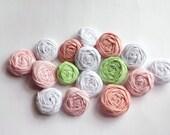 Mix Mini Fabric Rosettes Embellishment