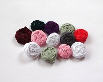 SALE Assorted Mini Fabric Rosettes Embellishment
