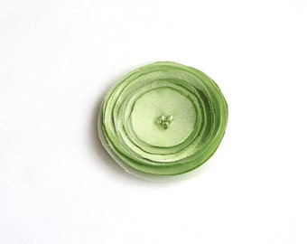 Apple Green Fabric Poppy Embellishment