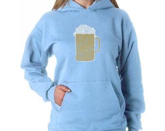 Women's Hooded Sweatshirt - Slang terms for being drunk