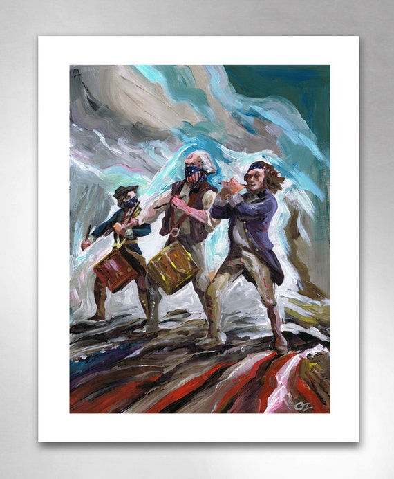 YANKEE DOODLE OUTLAW American Art Print 11x14 by Rob Ozborne