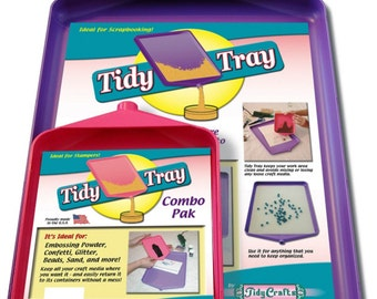 Combo Tidy Tray Set - Large and Small Glitter Trays