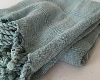 Turkish Towel Peshtemal towel Cotton Peshtemal Stone washed Mint Towel pure soft