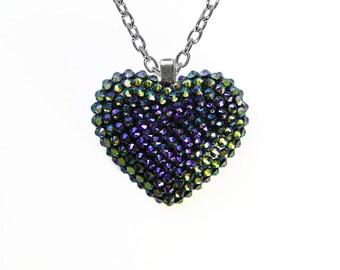 Paradise Mini Pavèd Heart Necklace