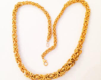 Gold Chain Necklace, Retro Vintage Jewelry, Gift for Her SPRING SALE  Mother's Day