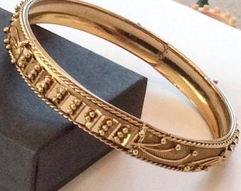 Victorian Revival Mesh Modernist Bangle Bracelet Vintage Jewelry, WINTER SALE