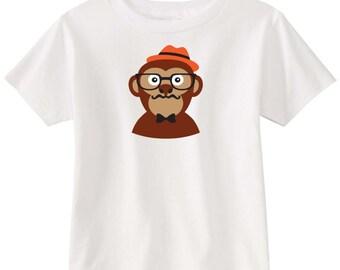Kids Screen t-shirt - Hipster Monkey