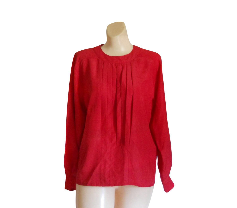 rote bluse rotes hemd rot top langarm bluse damen bluse frauen. Black Bedroom Furniture Sets. Home Design Ideas
