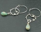 Opal Dangle Sterling Silver Earrings