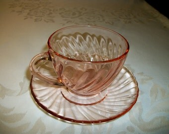 Vintage Arcoroc from France Cup and Saucer