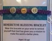 New St Benedictine Blessing Bracelets for Kids/Children Cofirmation Birthday Valentines Day Easter