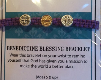 My Saint My Hero  St Benedictine Blessing Bracelets for Kids/Children Cofirmation Birthday Valentines Day Easter