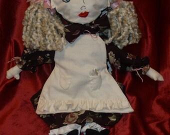 Pioneer Girl Rag Doll, Prairie Girl Rag Doll, Western Plains Rag Doll, 19th century Rag Doll, Covered Wagon Rag Doll