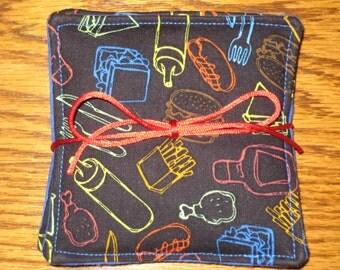 Picnic Coasters  - Mug Rug - Set of 4 - Housewarming Gift - Hostess Gift
