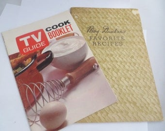 Set of 2 Vintage Cook Booklets TV Guide and Mary Dunbar's Favorite Recipes