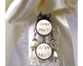 Bridal Bouquet Photo Charm, Wedding Bouquet Memory Charm, Ring Bearer Pillow Charm, Boutonniere Charm - 1 to 6 charms