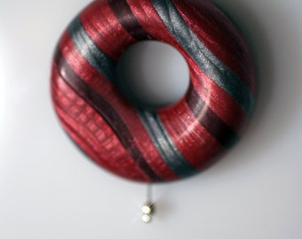 Polymer Clay Striped Air Pendant - WEARABLE ART!!!