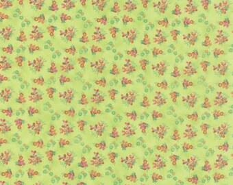 Basicgrey Fresh Cut for Moda - Floral Violet Garden - Light Green - Celery - 1/2 yard cotton quilt fabric 516