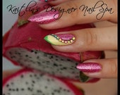 Dragon Fruit Gel Artificial Nail Art