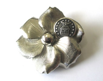 AIR FORCE vintage BUTTON brooch pin, better than a corsage