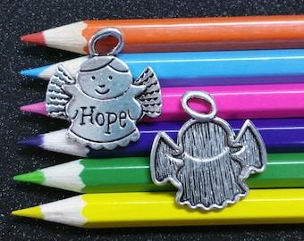 3 PCS - Hope Angel Fairy Silver Charm Pendant C0849