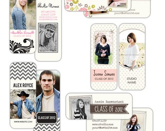 INSTANT DOWNLOAD - 5 Rep Mini Card Photoshop Templates - E438