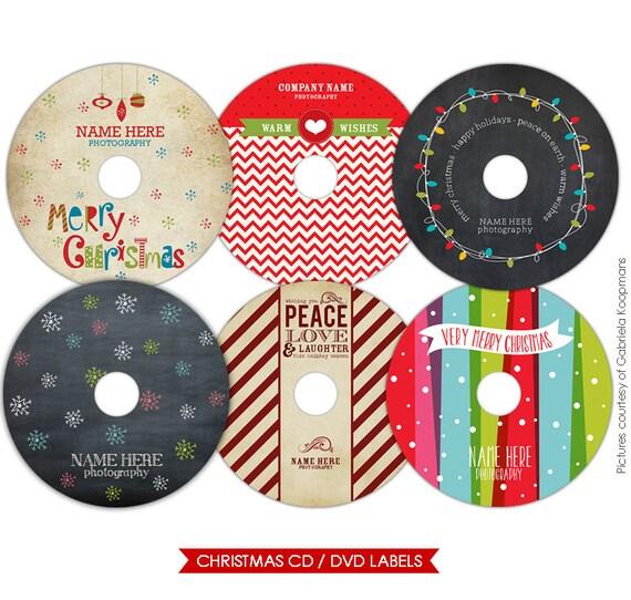 instant download weihnachts cd etiketten photoshop von. Black Bedroom Furniture Sets. Home Design Ideas