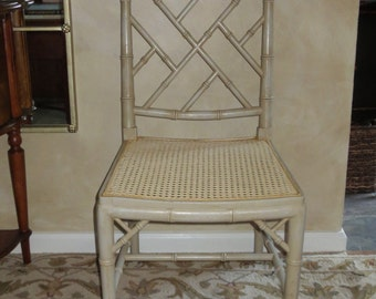 Faux Bamboo side chair-Chinese Chippendale style