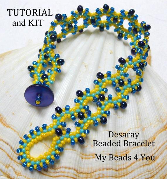 beaded bracelet kit pdf beading tutorial kit pdf beaded