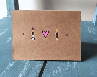 Customized Bridesmaid Card