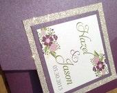 Mixed Typography Floral Glitter Pocketfold Wedding Invitation - FULLY Customizable!