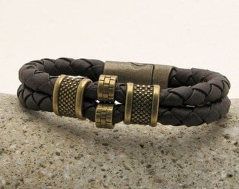 Men Leather Bracelet, Jewelry for Him, Valentine's Gift for Boyfriend, Gift Anniversary, Mens Gift For Him, Birthday Gifts