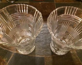 Vintage Basketweave Vases