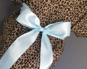 Trendy Maternity Hospital Gown - Leopard Print
