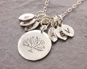 Tree of Life Necklace, gift for grandma, family tree necklace, mother necklace, grandma necklace, initial necklace, nana, N13