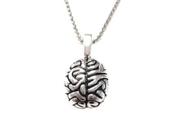 Anatomy Brain Pendant Necklace