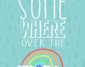 somewhere over the rainbow.... instant download jpeg