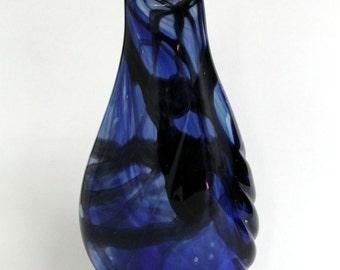 Deep Blues-Partial Gather-Glass Vase