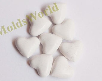 S117 17Pcs White Heart Shape Sealing Wax Beads for Wax Seal Stamp