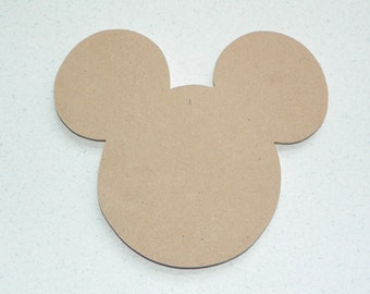 Unfinished Mick Mouse for DIY, Crafts and Mosaic Base