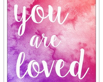 "Nursery Art - ""You Are Loved"""