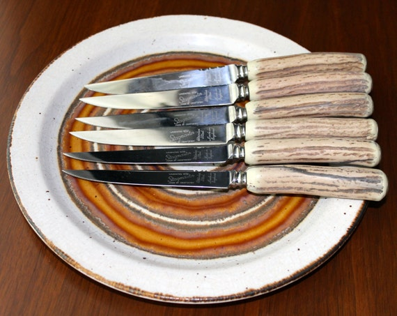 Stagmaster england dinnerware steak knives by for Ancienne maison cutlery