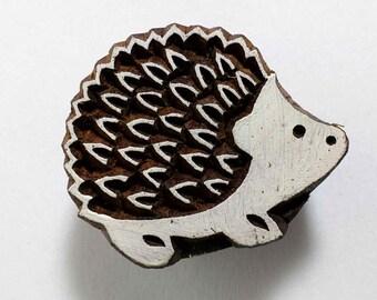 Porcupine Kawaii Stamp/Block for Printing - Textile and Paper Printing Stamp - Block Printing Supply