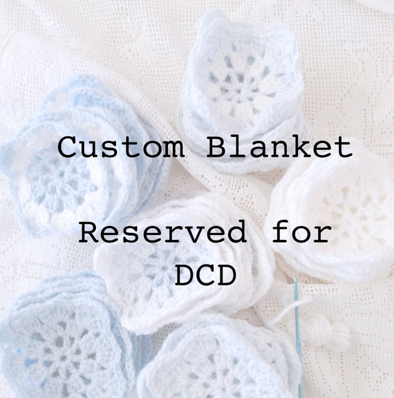 Custom Granny Square Baby Blanket-  Reserved for DCD