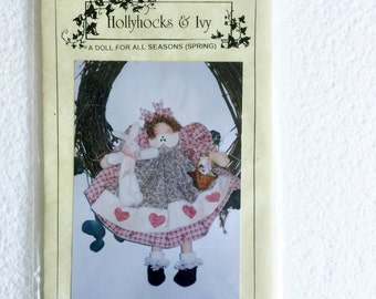 Hollyhocks & Ivy A Doll For All Seasons Spring Sewing Pattern UC Uncut Plush Stuffed