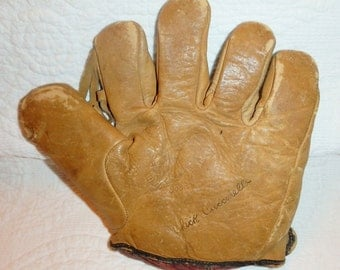 Antique Baseball Glove Endorsed By Chick Cuccinello