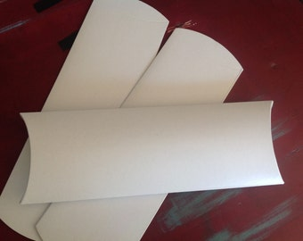 Long White Pillow box - 10 pcs - package longer items even clothing