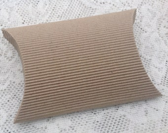 20 Kraft large Pillow box textured  gift wrapping