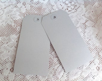 50 Gray Large Gift Tag Luggage Style