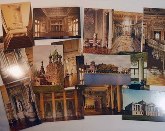 Russian Ostankino Palace Postcards 1980s Moscow Russian USSR Soviet Union Souvenir Aurora Art Publishers